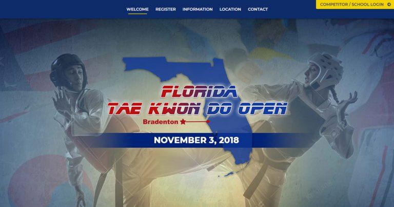 Florida Tae Kwon Do Homepage Screenshot