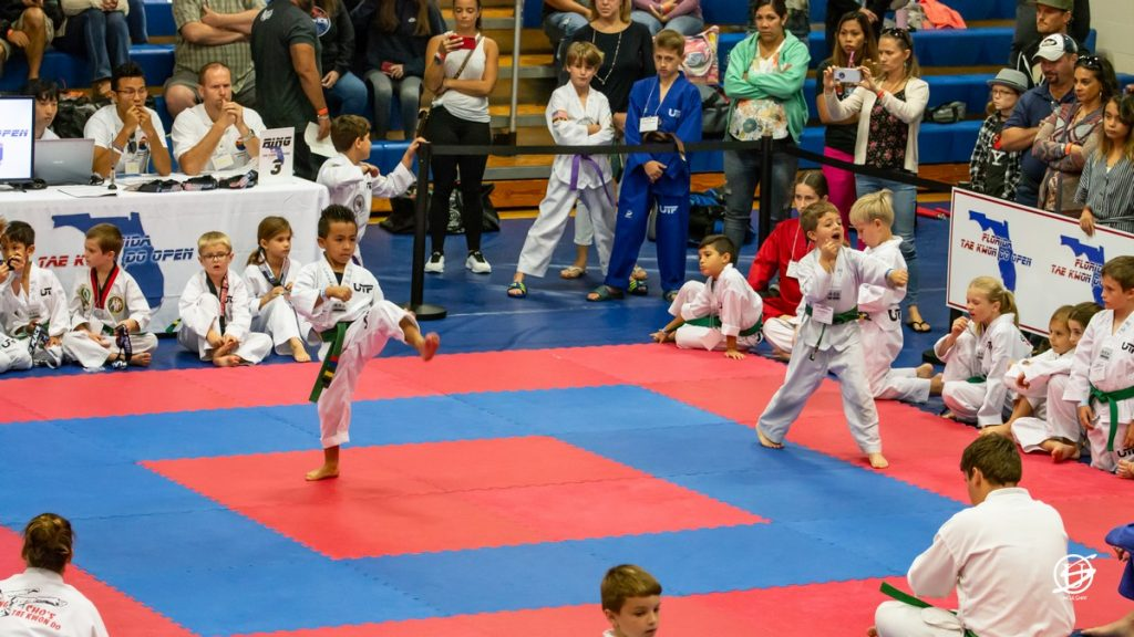 two young boys competing